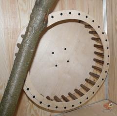 8) крепим колесо